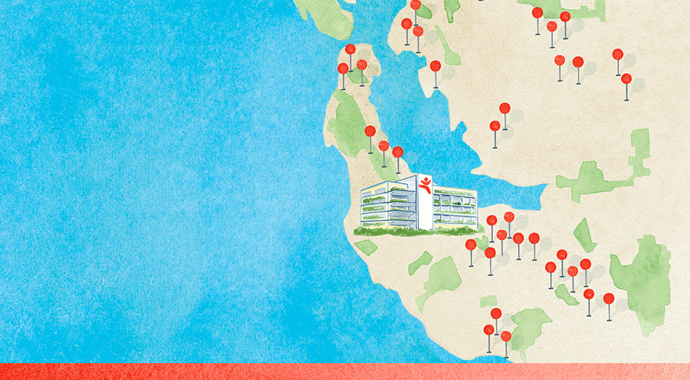 Mapa de acceso a Stanford Children's Health