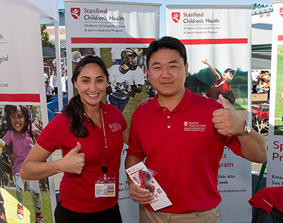 Stanford Children's Health booth
