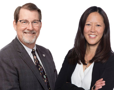 Dennis Lund, MD and Grace Lee, MD