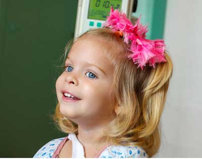 Young girl at Lucile Packard Children's Hospital Emergency Department, a Level 1 Trauma Center