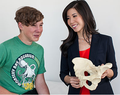 Stephanie Pun, MD, with young hip patient