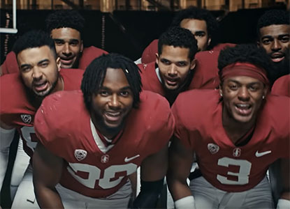 Bryce Love and teammates