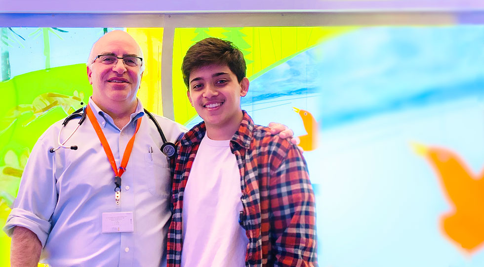 Shoham and Dr. Rosenthal at Lucile Packard Children's Hospital Stanford