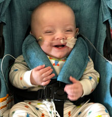 Jase is all smiles and breathing better after battling bronchopulmonary dysplasia