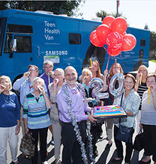 Teen Health Van celebrates its 20th anniversary