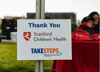 Take Steps Thank You sign