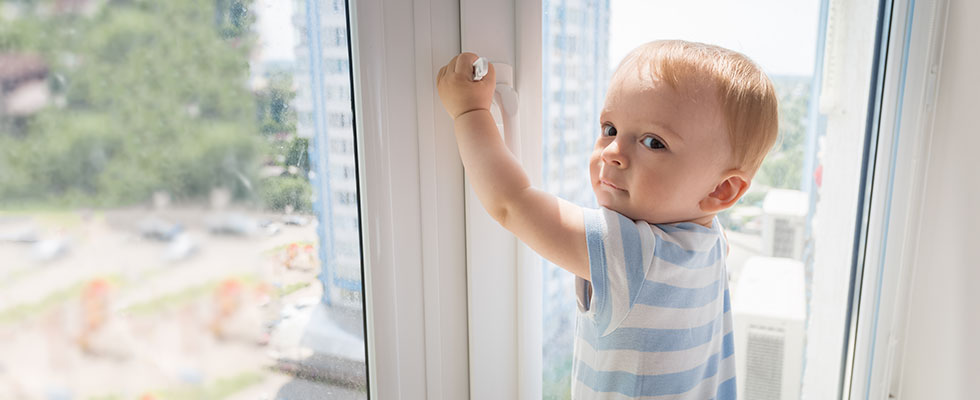 Child holding window latch