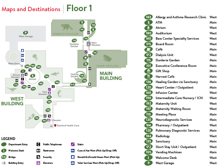 Stanford Hospital Map Finding Your Way   Parking, Maps and Navigation   Stanford