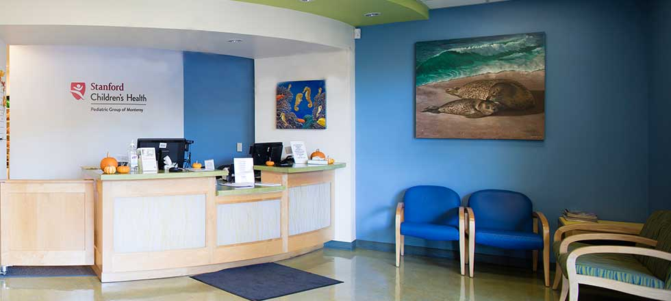 Pediatric Group of Monterey interior office space