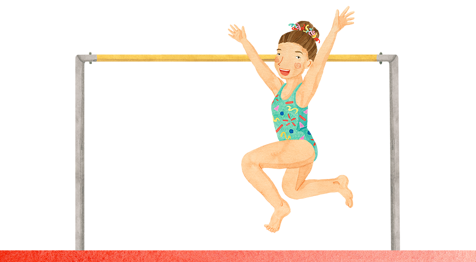 Young gymnast illustration for Stanford Children's Health