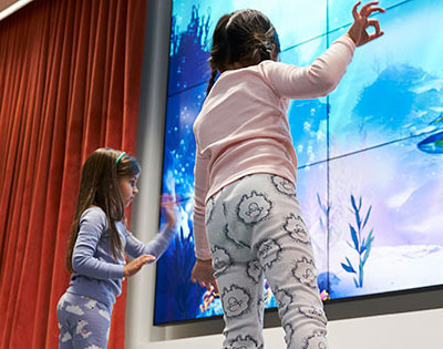 Interactive California Coast Wellness Eco-Zone inside Packard Children's Story Corner