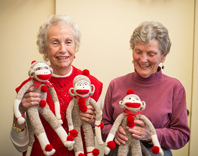 Volunteer Services and Sock Monkeys