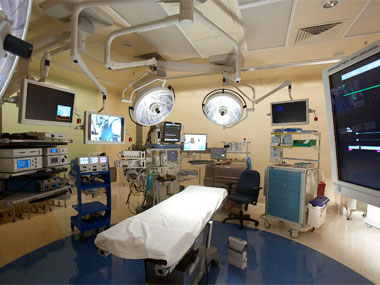 An operating room in the Ford Family Surgery Center