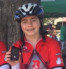"Tia Geri with her FDA approved ""artificial pancreas"""