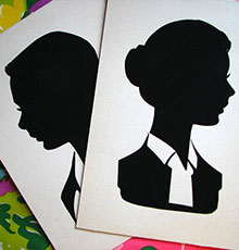 teen silhouette illustration