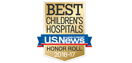 US News Honor Roll Stanford Children's Badge